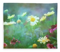 The Joy Of Summer Flowers Fleece Blanket