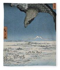 The Jumantsubo Plain In Susaki Near Fukagawa, 1857 Fleece Blanket