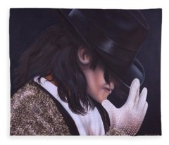 The King Of Pop Fleece Blanket