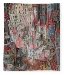The Kingdom Of Aurora. Waiting For The Prince. Fleece Blanket