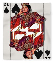 The Kings - Michael Jackson Fleece Blanket