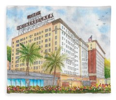The Knickerbocker Hotel In Hollywood, California Fleece Blanket