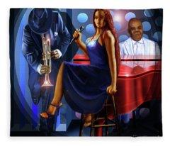 The Lady Jazz Singer Fleece Blanket