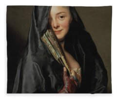 The Lady With The Veil  Fleece Blanket