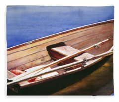 The Lake Boat Fleece Blanket