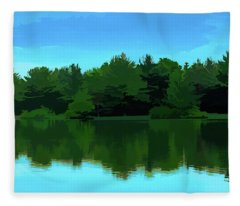 The Lake - Impressionism Fleece Blanket