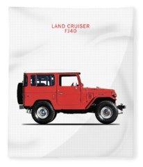 The Land Cruiser Fj40 Fleece Blanket