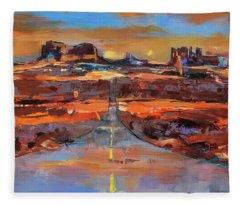 The Land Of Rock Towers Fleece Blanket