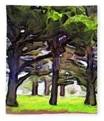 The Landscape With The Leaning Trees Fleece Blanket