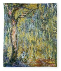 The Large Willow At Giverny Fleece Blanket