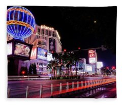 The Las Vegas Strip Fleece Blanket
