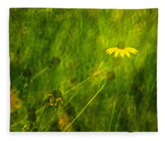 The Last Black-eyed Susan Fleece Blanket