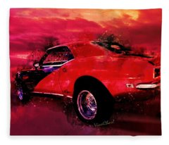 The Last Chase Muscle Car Shootout Fleece Blanket