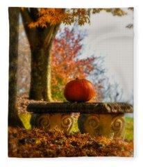 The Last Pumpkin Fleece Blanket