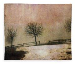 The Last Snow Fleece Blanket