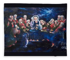 Flying Lamb Productions           The Last Supper  Fleece Blanket