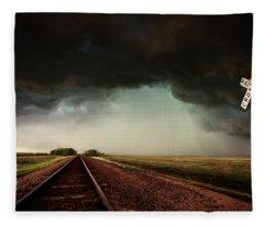 The Last Train To Darksville Fleece Blanket