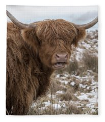 The Laughing Cow, Scottish Version Fleece Blanket