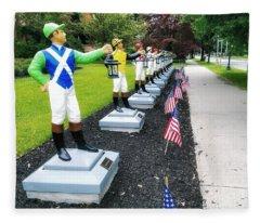The Lawn Jockeys Of Saratoga Springs Fleece Blanket