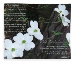 The Legend Of The Dogwood Fleece Blanket