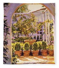 The Lemon Tree Courtyard Fleece Blanket