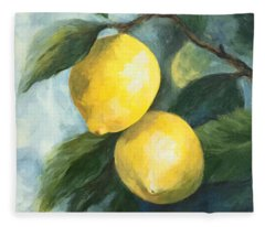 The Lemon Tree Fleece Blanket