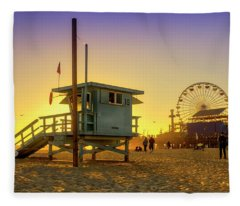 The Lifeguard Station Fleece Blanket