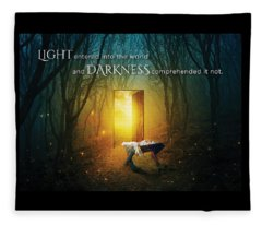 The Light Of Life Fleece Blanket