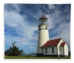 The Lighthouse At Cape Blanco Fleece Blanket
