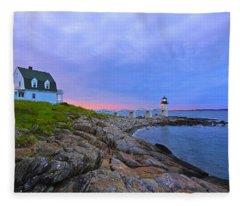 The Lighthouse Keeper Fleece Blanket