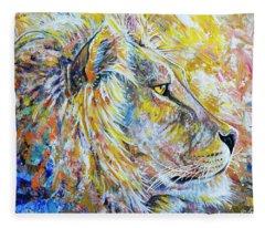 The Lion Fleece Blanket