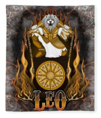 The Lion Leo Spirit Fleece Blanket