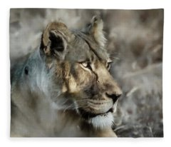 The Lioness  Fleece Blanket