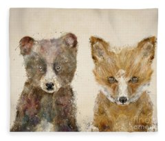 The Little Bear And Little Fox Fleece Blanket