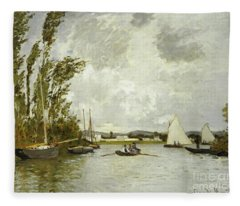 The Little Branch Of The Seine At Argenteuil Fleece Blanket