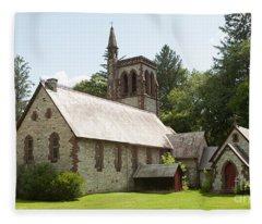 The Little Brown Church In The Vale Fleece Blanket