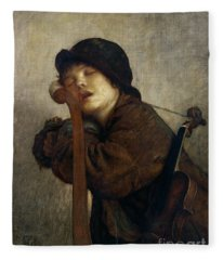 The Little Violinist Sleeping Fleece Blanket