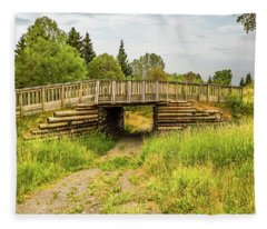 The Little Wooden Bridge Fleece Blanket
