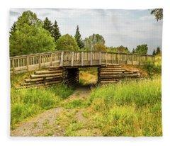 The Little Wooden Bridge Fleece Blanket