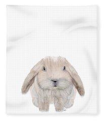 The Littlest Bunny Fleece Blanket