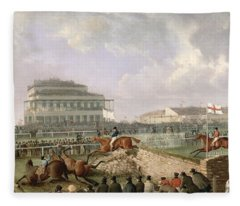 The Liverpool And National Steeplechase At Aintree Fleece Blanket