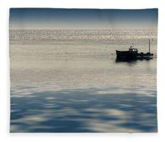 The Lobster Boat Fleece Blanket