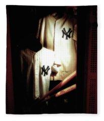 The Locker  Mickey Mantle's And Joe Dimaggio's Locker Fleece Blanket