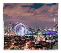 The London Skyline Fleece Blanket