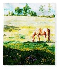 The Lone Horse Fleece Blanket