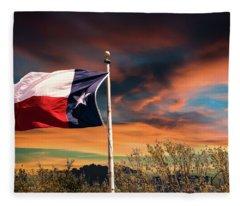The Lone Star Flag Fleece Blanket