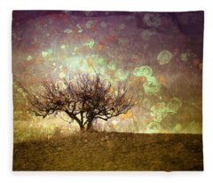 The Lone Tree Fleece Blanket