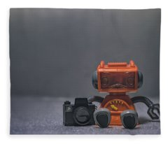 The Lonely Robot Photographer Fleece Blanket