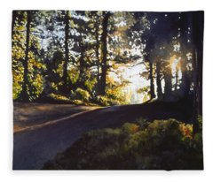 The Long Way Home Fleece Blanket