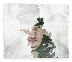 The Looking Glass Forest Man Fleece Blanket